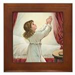 Praying Child Framed Tile