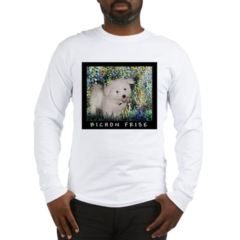 Bichon Frise Dog Breed Fine Art SPR Long Sleeve T- Pets Long Sleeve T-Shirt by CafePress