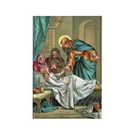 Jesus Healing Power Rectangle Magnet