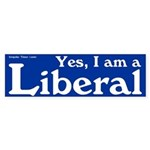 Blue I am a Liberal bumper sticker