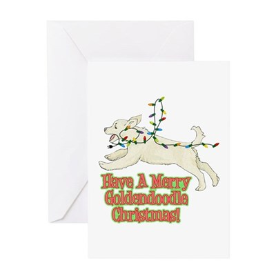 Christmas Goldendoodle Christmas Card