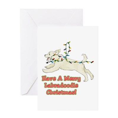 Christmas Labradoodle Christmas Card