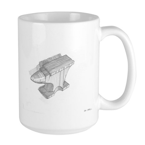 - Anvil Study Painting Large Mug by CafePress