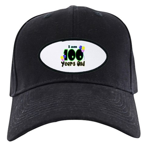 100th Birthday PRI  Birthday Black Cap by CafePress