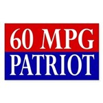 60 MPG Patriot (bumper sticker)