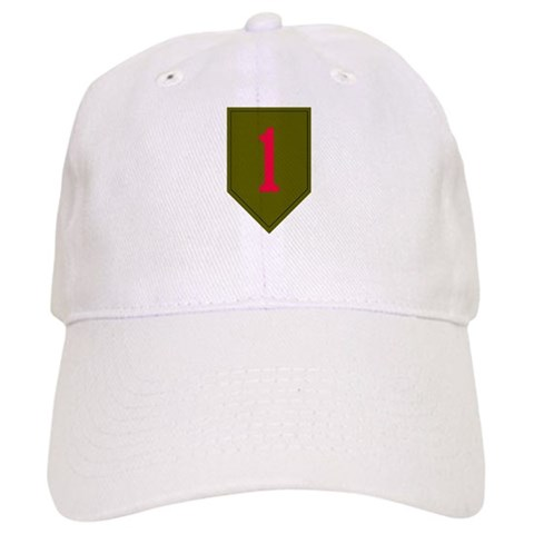- Military 1st Infantry Military Cap by CafePress