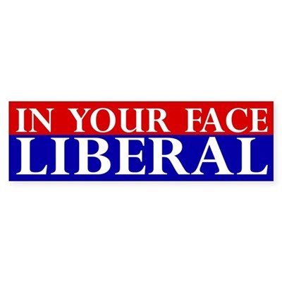 In Your Face Liberal Bumper Sticker