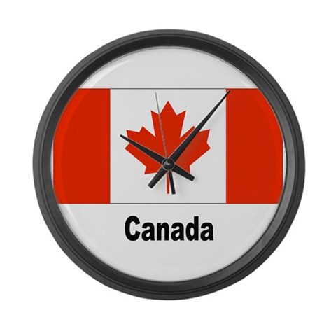 Canada Canadian Flag  Canada Large Wall Clock by CafePress