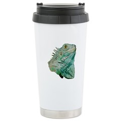 iguana lizard travel mug