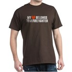 My Heart Belongs to a Firefighter Dark T-Shirt