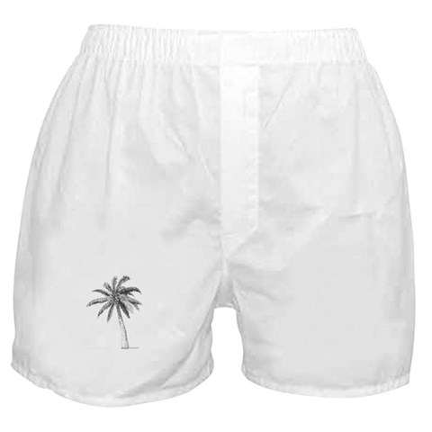 'Lone Palm'  Tree Boxer Shorts by CafePress