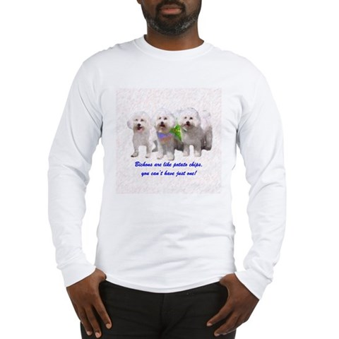 Bichon Frise Dog Breed Pop Art SPR Long Sleeve T-S Pets Long Sleeve T-Shirt by CafePress