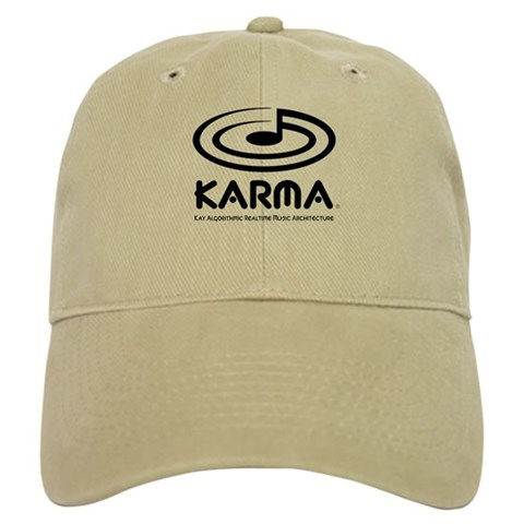 , khaki or white Black Cap by CafePress