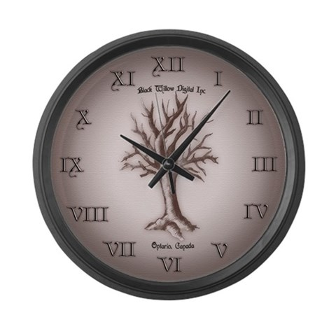 'Black Willow Digital Inc' large wall clock Canada Large Wall Clock by CafePress