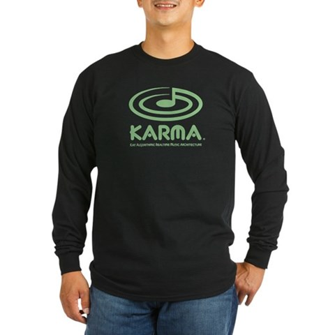 , large logo, green  Long Sleeve Dark T-Shirt by CafePress
