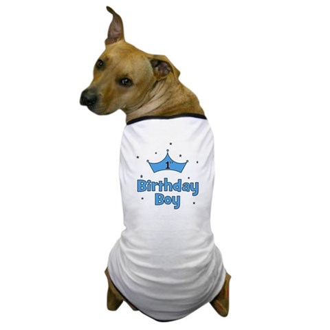 1st Birthday Boy crown  Cupsreviewcomplete Dog T-Shirt by CafePress