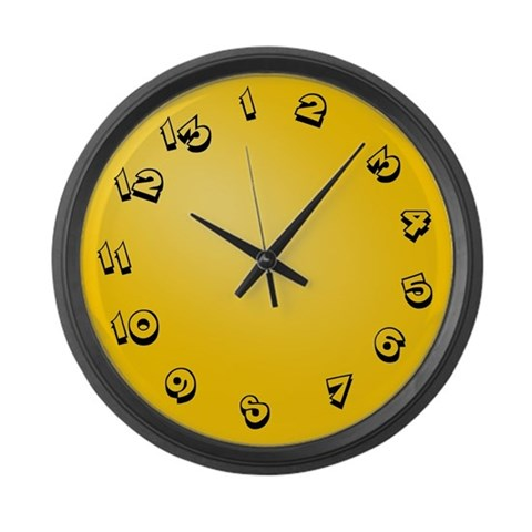 13 Hour Clock  Humor Large Wall Clock by CafePress