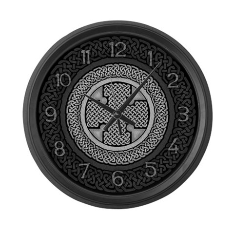 Celtic Cross  Gothic Large Wall Clock by CafePress
