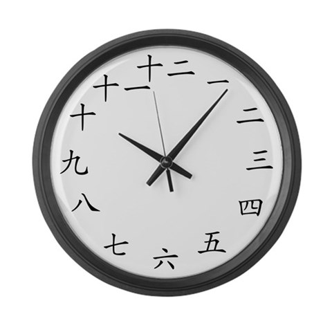Chinese Character  Chinese Large Wall Clock by CafePress