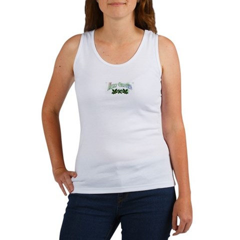merry christmas Christmas Women's Tank Top by CafePress