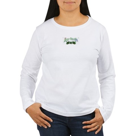 merry christmas Christmas Women's Long Sleeve T-Shirt by CafePress