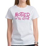 Hipster Mother of Groom: Pink Bridal Party Tees