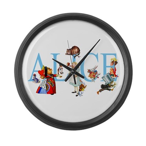 ALICE IN WONDERLAND amp; FRIENDS  Funny Large Wall Clock by CafePress