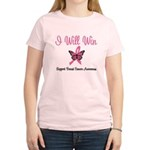Breast Cancer I Will Win Women's Light T-Shirt