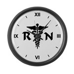 RN Symbol Large Wall Clock