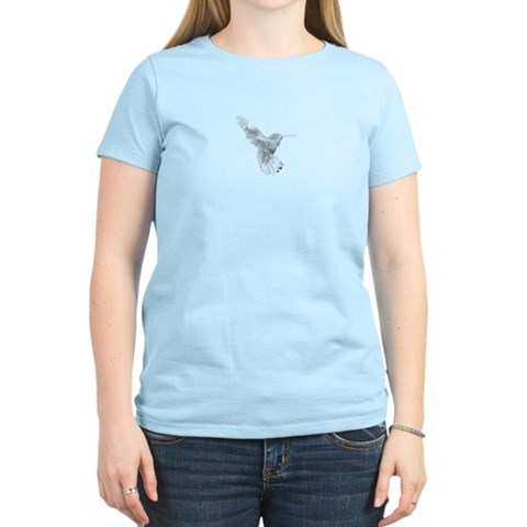 Crystal Hummingbird  Hummingbird Women's Light T-Shirt by CafePress