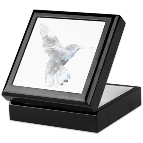 Crystal Hummingbird  Hummingbird Keepsake Box by CafePress