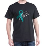 Tourette's Ribbon Hope Dark T-Shirt