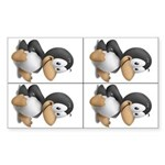 Baby Tux 4-up Sticker (Rectangular)