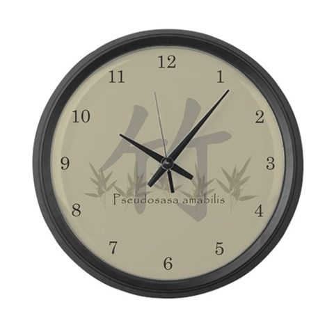 Chinese Bamboo  Sports Large Wall Clock by CafePress