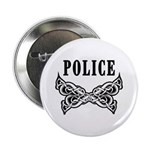"Police Tattoo 2.25"" Button"