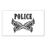 Police Tattoo Sticker (Rectangle)