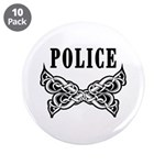 "Police Tattoo 3.5"" Button (10 pack)"