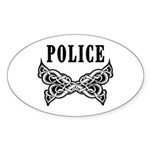 Police Tattoo Sticker (Oval)