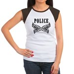 Police Tattoo Women's Cap Sleeve T-Shirt
