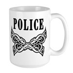 Police Tattoo Large Mug