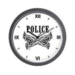 Police Tattoo Wall Clock