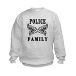 Police Tattoo Kids Sweatshirt