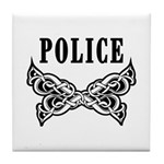 Police Tattoo Tile Coaster