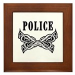Police Tattoo Framed Tile