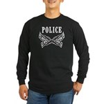 Police Tattoo Long Sleeve Dark T-Shirt