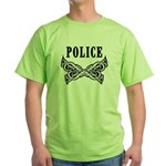 Police Tattoo Green T-Shirt
