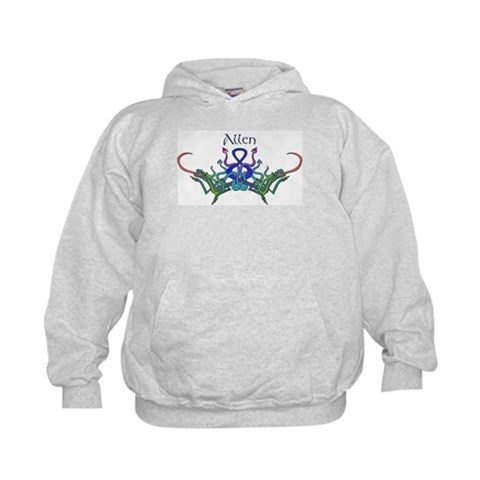 Allen's Celtic Dragons Name  Cool Kids Hoodie by CafePress