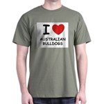 I love AUSTRALIAN BULLDOGS T-Shirt