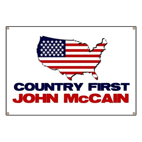 Country First  Military Banner by CafePress