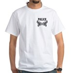 Police Tattoo White T-Shirt